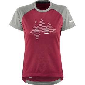 Zimtstern PureFlowz Camicia a maniche corte Donna, rosso/grigio